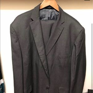 Men's Haggar Gray Suit 52r